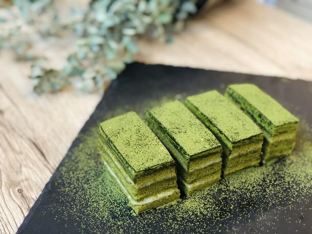 大阪 江坂 料理・天然酵母パン・ケーキ教室 | バレンタインSpecial 抹茶のオペラ