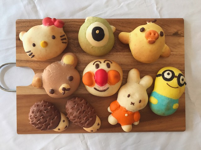 大阪 江坂 料理・天然酵母パン・ケーキ教室 | 夏休みイベント!みんなで作ろうキャラパン♪