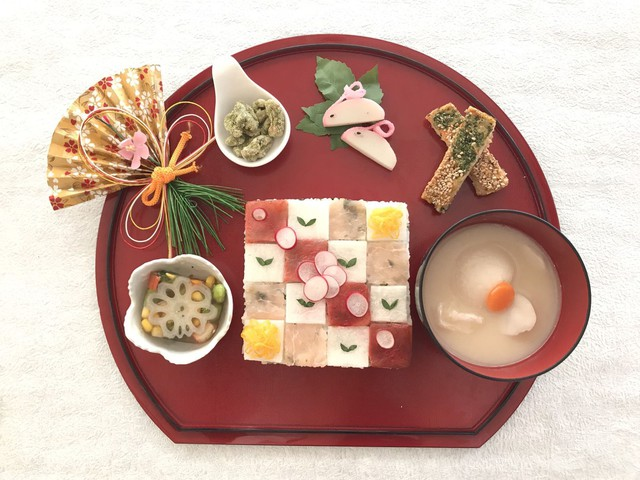 大阪 江坂 料理・天然酵母パン・ケーキ教室 | 特別レッスン おせち&モザイク寿司