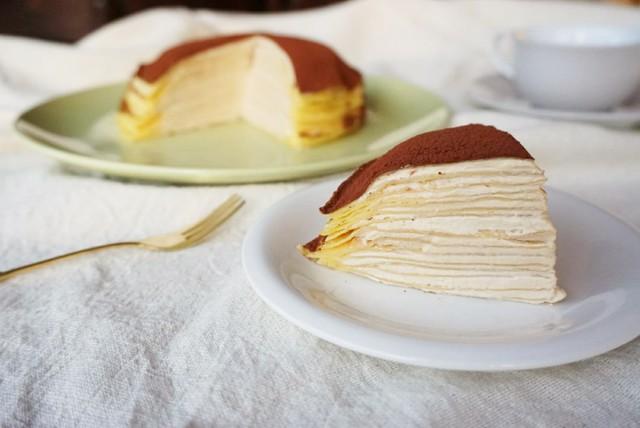 大阪 江坂 料理・天然酵母パン・ケーキ教室 | 特別レッスン ティラミス風ミルクレープ